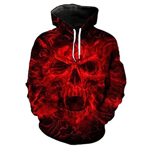 3D Schädel Drucken Tier Wolf Männer Hoody Sweatshirt Hip Hop Hoodies Pullover Tops Hoody LMWY-288 XXXL