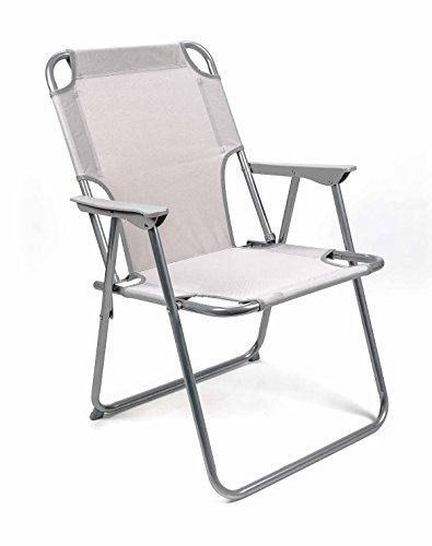 Lifetime Camping Klappstuhl, Metallgestell, Textilbespannung, Design klassisch, faltbar, Gewicht ca. 2,25 kg, lieferbar in den Farben Schwarz oder Grau (Grau)
