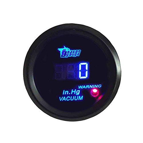 Supmico 52mm Universal Blau LED Licht Anzeige Digital Vakuum Kfz Auto Instrument Messgerät - Licht-vakuum