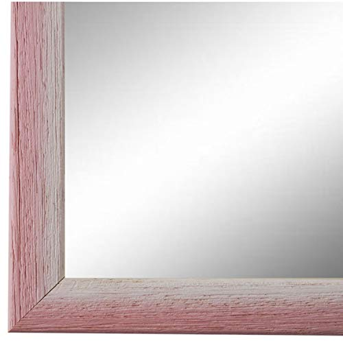 Online Galerie Bingold Spiegel Wandspiegel Rosa Pink Weiß 40 x 50 cm - Modern, Vintage, Shabby - Alle Größen - Made in Germany - AM - Pinerolo 2,3