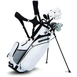 Callaway Hyper-Lite 4 Bolsa para Palos de Golf, Hombre, Blanco / Plata / Negro, Talla Única