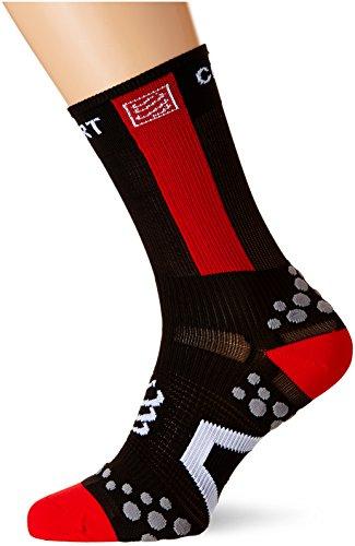 Compressport Racing Socks V2.1 Bike Hi Calzino Bici da Gara e Allenamento, Nero (Black/Red), T4