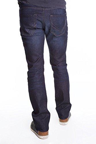 redman Herren Straight Leg Jeanshose, Einfarbig Indigo