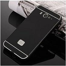 Prevoa ® 丨 Xiaomi Mi2 Mi2S Funda - Metal Frame Funda Cover Case para Xiaomi Mi2 Mi2S 4.3 Pulgadas Android Smartphone - Negro