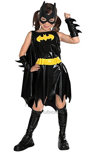 Batgirls Kostüm - Rubie's Batgirl-Kostüm für Mädchen Karneval schwarz-gelb 128 (7-8 Jahre)