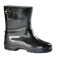 Lukpol Women Rain Boots Wellingtons M210S (Black, UK 6 / EUR 39)