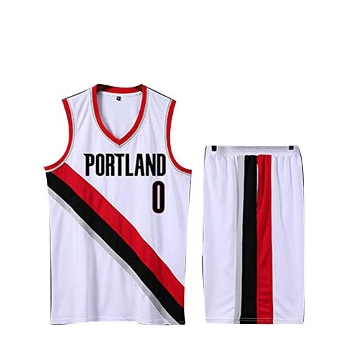 Damian Lillard C.J. McCollum #0#3 Basketball Jersey M-XXXL - Mesh Polyester Tank Jersey Shirts (Youth/Adult) it is a True Jersey -Portland Trail Blazers (Jungen Für Samt-blazer)