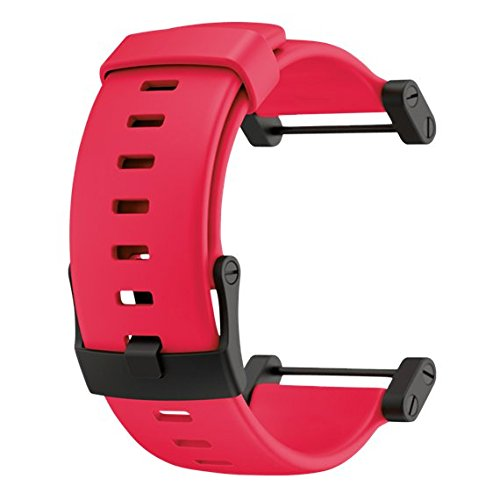 Red Rubber Strap (Suunto Zubehör CORE RUBBER STRAP, rot, One size, SS018820000)