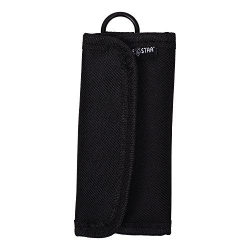 Fall Star® Schwarz Farbe Nylon velcor 6Slot Netztasche Tragetasche Sleeve mit Schnappverschluss für SD Speicherkarte in Fotografie