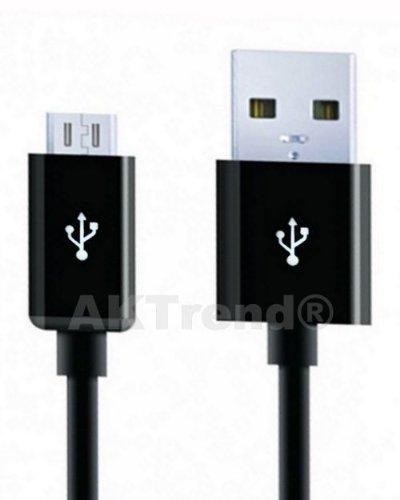 Original AKTrend® USB Sync- & Ladekabel - Datenkabel für Sony Xperia Z3 / Z2 / Z1 / Z Ultra / Samsung Galaxy S5 / S4 / S4mini / S3mini / S3 / Tab 3 / Note 10.1 2014 / Note 4 / Note 3 / Note II GT-N7100 / Mega 6.3 / HTC One / One mini / Huawei P6 / LG G2 (microUSB, schwarz, 100cm) (Samsung Galaxy Note 2 Mega)