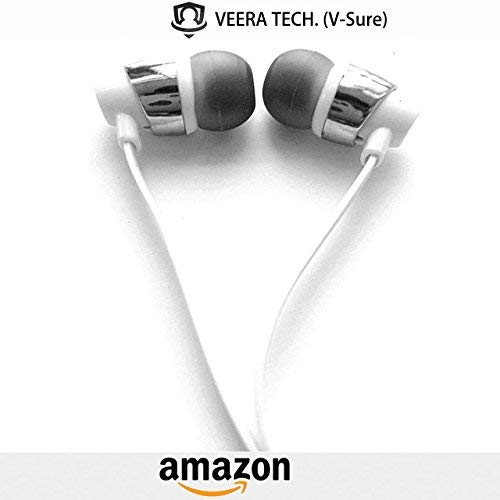 Veera Tech (32 Beats) Wired Universal Fab Sound 3.5mm Jack in-Earphone/Headphone/Headsets Compatible for Panasonic Eluga I2 3GB RAM - Andriod Smartphone/MP3 Players/Laptops (Colour May Vary)