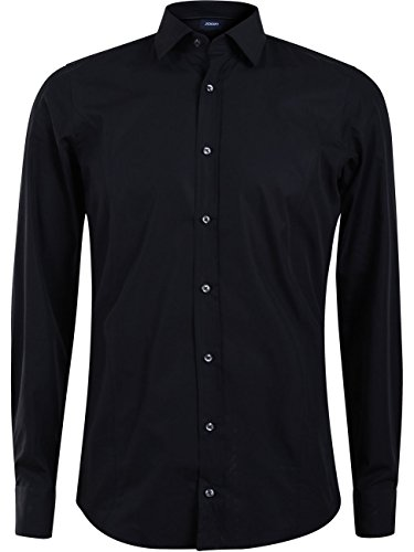 Joop! Herren Business Hemd Victor - Slim Fit, Größe:43;Farbe:Schwarz (001)