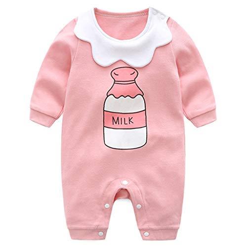 Neugeborene Strampler Baby Spielanzug Mädchen Schlafanzug Baumwolle Overalls, 0-3 Monate - Baby-mädchen-langarm-schlafanzug