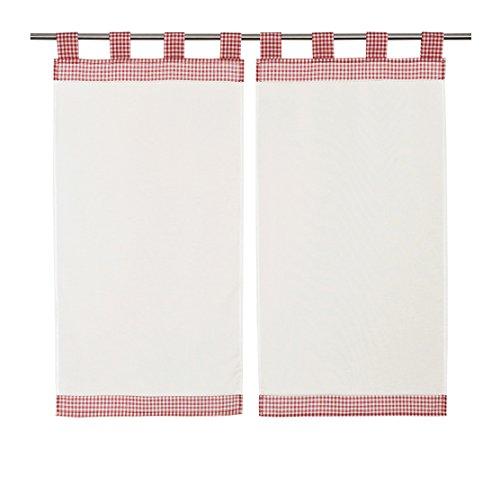 Linder, Tende a quadretti, 2 pz, 45 x 90 cm