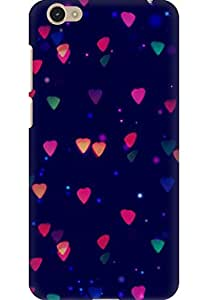 AMEZ designer printed 3d premium high quality back case cover for Vivo Y55 (lights abstract)