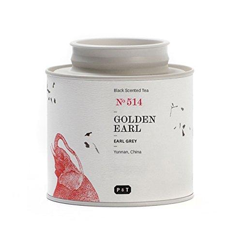P & T Golden Earl, Feiner Loser Ganzblatt-Schwarztee aus China mit Bergamotte, Metalldose (60g/2.1oz)