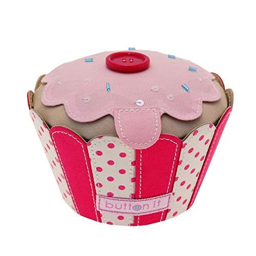 Button It Knopf, Textil, rose Carters Cupcake