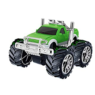 ADESHOP Educational Toys, Inertia Four-Wheel Drive Off-Road Vehicle Simulation Model Toy Baby Car Model(Green PICK UP)