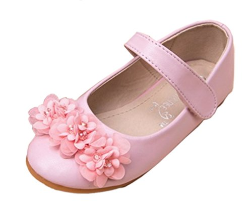 dern Runde Zehe Anti-Rutsch-Sohle Blumen Prinzessin SchuheMary Jane Pink 31 EU (Tanzabend Kostüme Kinder)