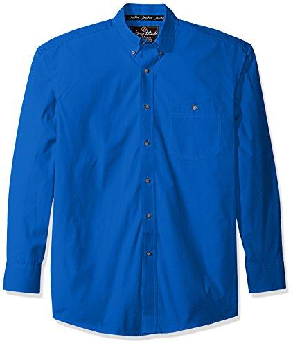 Button-down One Pocket Shirt (Wrangler Herren Langarmshirt George Strait One Pocket Knopfleiste - Blau - X-Groß)
