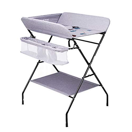Diaper table Snow Yang Pflegetisch/Wickeltisch, Multifunktions höhenverstellbar zusammenklappbar tragbares Neugeborenenbad, grau