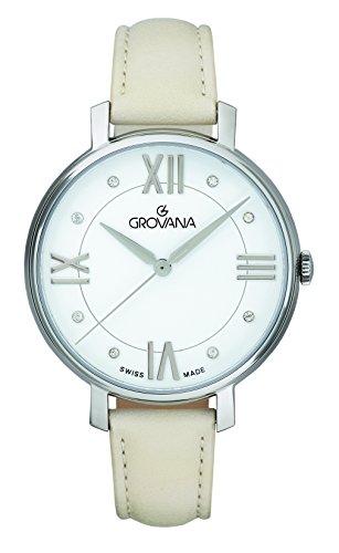 GROVANA Womens Analogue Classic Quartz Watch with Leather Strap 4441.1533