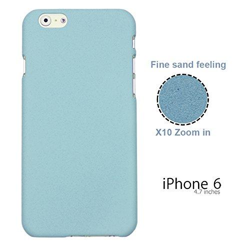 OBiDi - Frosted Surface Hard Back Plastic Case / Housse pour Apple iPhone 6 / 6S (4.7 inch)Smartphone - Blanc avec 3 Film de Protection Bleu