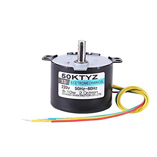 Synchronmotor 50KTYZ Wechselstrom 220V 10W 0.5A Elektrisches Niedriger Motordrehzahl Dauermagnet CW / CCW 2.5 / 20RPM Hohes Drehmoment Metall übersetzt für Rotisserie-Drehscheibe(20 RMP)
