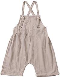 Divertido Pijama,K-Youth Pantalones de Peto para Bebé Body Bebe Niña Tirantes Sin Espalda Ropa Bebe Recien Nacido Pelele Bebe Niño Verano Mameluco Bebe Niñas Bodies Niños Mono