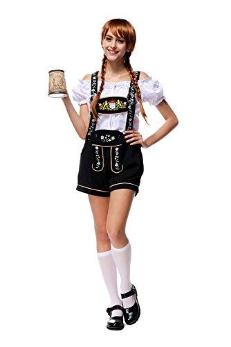 Damen Oktoberfest Kostüm Bayerische Trachtenhose mit Trägern und (Bayerische Kostüme Dress)