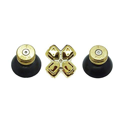 PS4Bullet Buttons Brass Solid Thumbsticks & Gold D-Pad