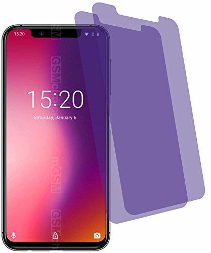 2X Crystal Clear klar Schutzfolie für Umidigi One Pro Bildschirmschutzfolie Displayschutzfolie Schutzhülle Bildschirmschutz Bildschirmfolie Folie
