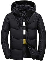 fe92453c3a3625 Celucke Herren Winterjacke Mode Warme Steppjacke mit Kapuze,Männer  Winterparka Daunenparka Casual Kapuzenjacke Wattierte Jacke
