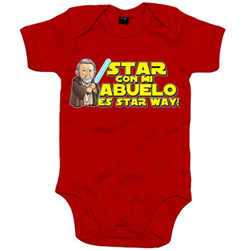 Body bebé Star Wars Star con mi abuelo es Star Way Obi Wan Kenobi - R