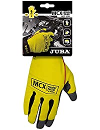 Juba - Guante cuero sintetico spandex velcro 9 amarillo