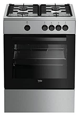 Beko FSG62000DX Freestanding Gas A Stainless steel cooker - Cookers ...