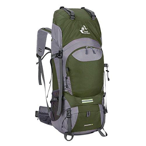 Imagen de skysper 60l  de senderismo impermeable ergonómica macutos de senderismo para montañismo escalada marcha trekking camping deporte al aire libre viaje