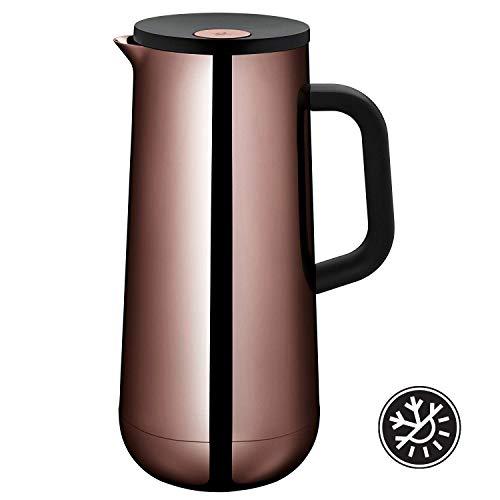 WMF Isolierkanne Thermoskanne Impulse Vintage Kupfer, 1,0 l, für Kaffee oder Tee Druckverschluss hält Getränke 24h kalt und warm