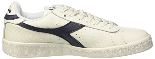 Diadora Unisex-Erwachsene Game L Low Waxed Pumps, 36 EU Bianco (Bianco/Blu Mar Caspio/Bianco)