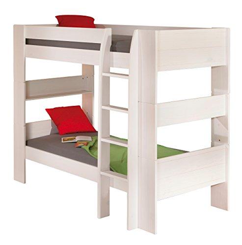 Inter Link Bett Etagenbett Bed Stockbett Kinderbett Kids Bett Kiefer massivholz Bio Natur lackiert