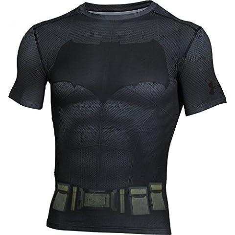 UNDER ARMOUR Batman Tee-shirt à manches courtes, Graphite,