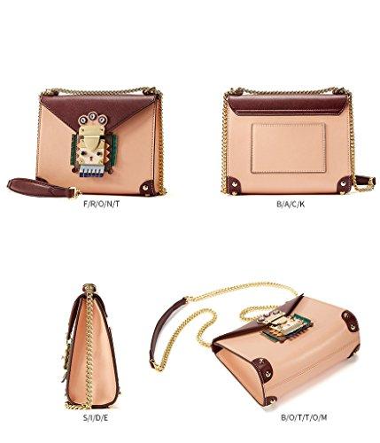 EMINI HOUSE - Borsa alla moda donna Orange Pink