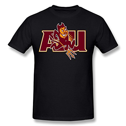 CAA Arizona State Sun Devils Football Team Logo T-Shirt Black (Ncaa Football Logos)