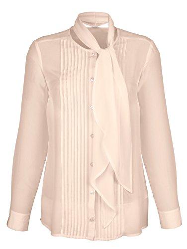 Damen Bluse mit abnehmbarer Schluppe by AMY VERMONT Rosé