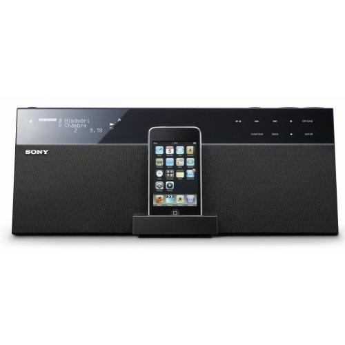 Sony NAS-SV20I Docking Station (DLNA, Party Modus, kabellose Vernetzung) für iPod/iPhone schwarz