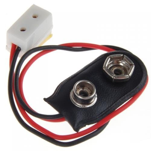 Miniatura Casa Delle Bambole Connettore Della Batteria 9V W / Filo E Singolo La005 Ricettacolo