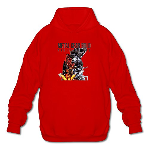 XJ-cool -  Felpa con cappuccio  - Uomo Red XX-Large