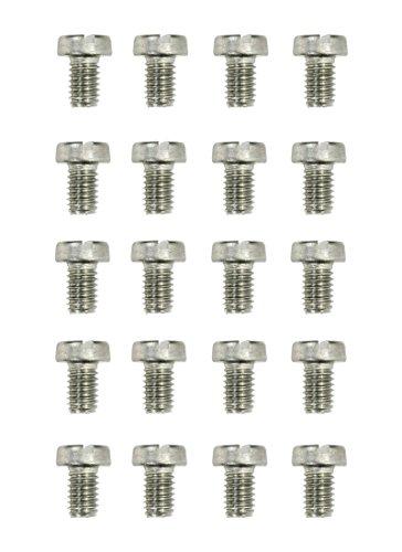 Vis t/ête frais/ée fendue nylon diam 20 pi/èces M2 longueur L = 12 mm plastique polyamide PA6.6 isolant ajile