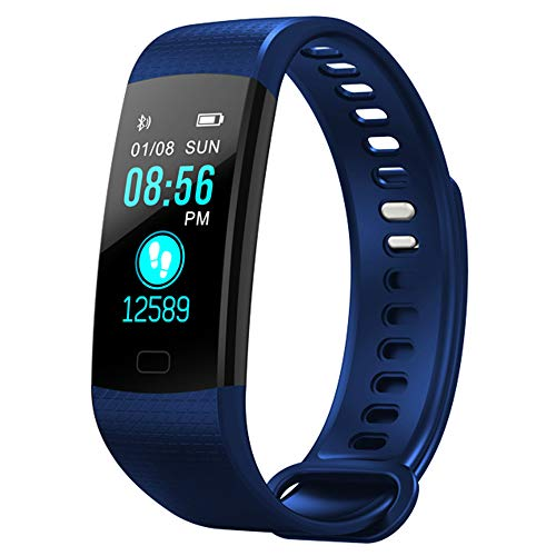 Bluetooth Smart Bracelet Large Color Screen Multi-Sports Mode Heart Rate Blood Pressure...