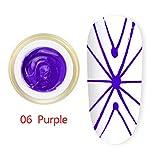 Berrose 8ML Nagelkunst elastische Kraft Spinne Zeichnungskleber Stärke Erbauer Gel Nagel Gel Malerei gebürstete Nagel Kunst Dekoration